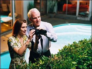 Claire Danes and Steve Martin in Shopgirl.
