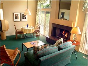 Each of the 25 suites at Walden Country Inn & Stables is oversized, ranging from 1,000 to 1,500 square feet, and most have fireplaces, whirlpools, and wet bars.