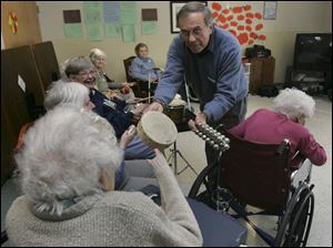 David Rogers, a former music professor at Bowling Green State University, shares music at Harborside in Swanton.