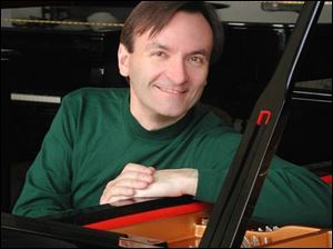 Pianist Stephen Hough will play Wednesday night in the Toledo Museum of Art Peristyle.