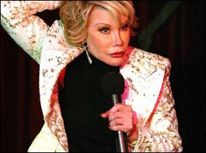 Joan Rivers, named to Comedy Central s list of top comedians