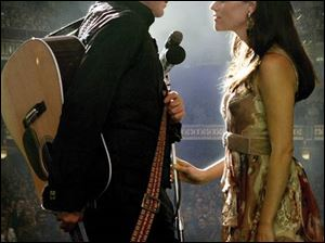 Joaquin Phoenix and Reese Witherspoon are delightful together as Johnny Cash and June Carter in Walk the Line.