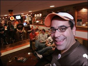 "Tim Guitteau has a name for his ""man cave"": The Browns Lounge."