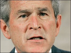 Mr. Bush warns that a new democracy in Iraq will require time and patience.