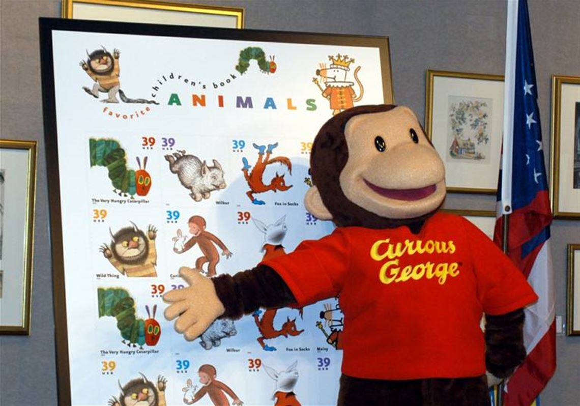 At Last Curious George Has His Curiosity Sated Over The New 39 Cent Stamps
