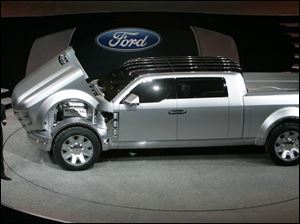 Ford's Super Chief concept pickup would burn a combination of ethanol,