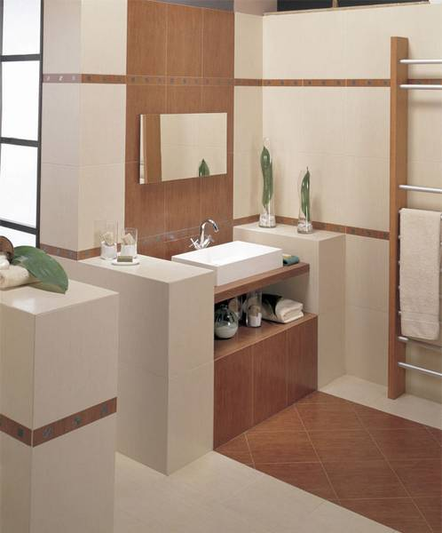 Marble Saddle For Bathroom: Saddle Chic Bath Ideas: Ceramic Tile Refines The Rustic