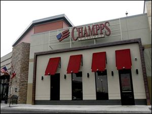 Champps is part of the Westfield Franklin Park shopping complex.