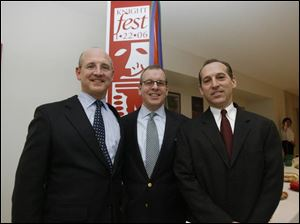 Brothers Phil, left, David, and Joel Andryc at 'Knightfest: A Celebration of the Arts' at St. Francis de Sales High School
