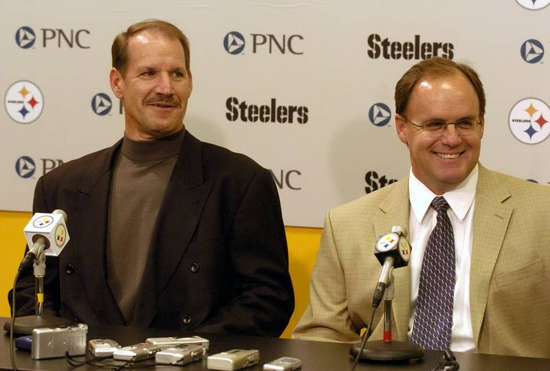 Kevin Colbert, Bill Cowher, Kevin Colbert and Bill Cowher