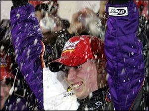 Denny Hamlin became the first rookie to be hit