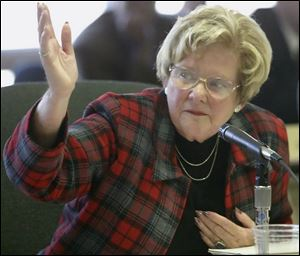 Ohio Board of Education member Martha Wise of Avon, whose district includes Toledo, made the motion to remove controversial language mentioning intelligent design from the state science curriculum. A board commitee will later recommend new language to take its place.