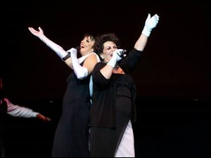 TOGETHER AGAIN: Suzanne Goulet, left, as Liza Minnelli, and Julie Sheppard, as the late Julie Garland, belt out show-stopping tunes for David's House.