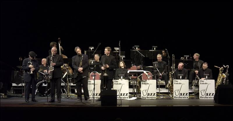 Toledo Jazz Orchestra performs onstage
