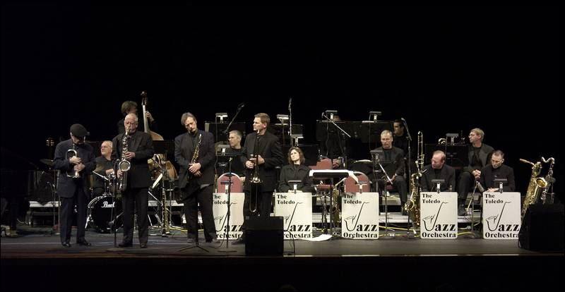 Toledo Jazz Orchestra performs onstage