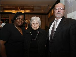 The 2006 Jefferson Award winners are, from left, Floella Wormely, Clara Shuer, and Robert Sterling.