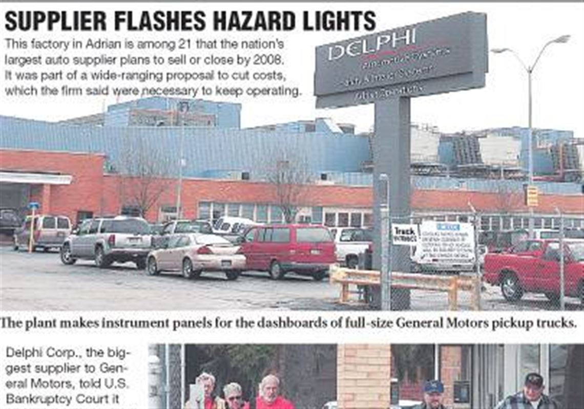 2 Delphi factories in area on list of 21 plant closings