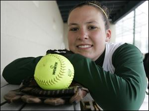 Pitcher Brandy Holmes is 8-1 with an ERA of 0.82 and 75 strikeouts. She also has thrown a perfect game.