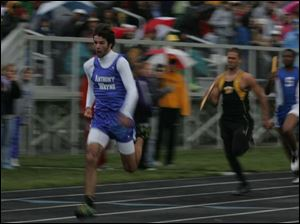 Anthony Wayne's Jimmy Cross, front, teamed with Justin Gerhardinger, Robert Anderson and Tim Green to win 400 relay.