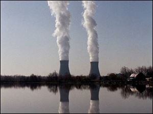 The Detroit Edison fermi II Nuclear Power Plant in Frenchtown Township, Michigan, show in 2001, is expected to be back at full power soon, after being offline for maintenance.