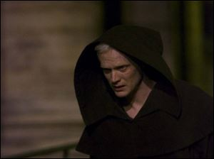 Paul Bettany as a murderous monk in <i>The Da Vinci Code</i>.