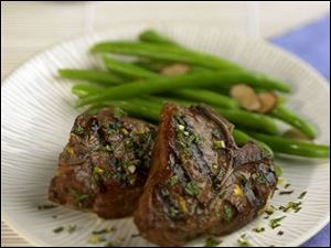 Grilled Lamb Loin Chops with Orange Mint Gremolata.