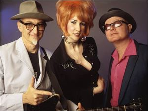 Southern Culture on the Skids members are, from left, Rick Miller, Mary Huff, and Dave Hartman.
