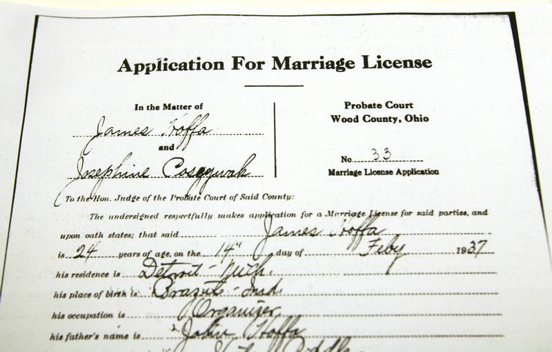 Legendary Teamsters boss was wed in Bowling Green - The Blade