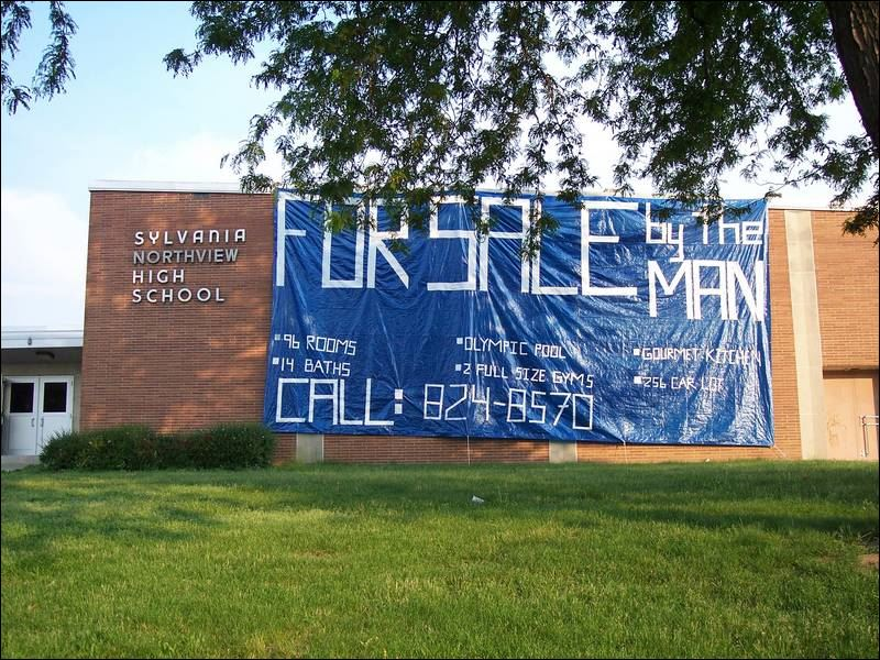 This sizable banner offered Sylvania Northview High School for sale ...