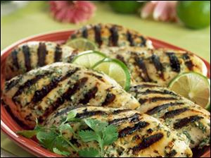 Grilled Chicken with Spicy Ginger Marinade.