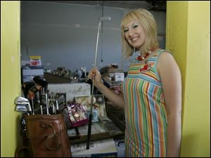 Luce Tomlin-Brenner, facilities manager for Cocoon, is organizing a garage sale tomorrow that will raise funds to benefit the shelter for battered women in the Bowling Green area.