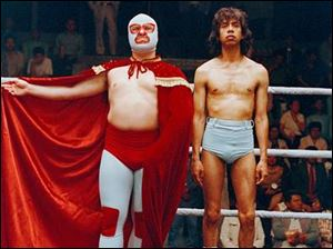Jack Black, left, as Nacho Libre and Hector Jimenez as his wrestling sidekick in Nacho Libre.