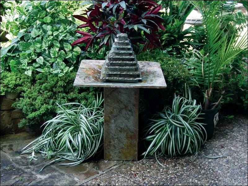 Go with the flow decorative fountains make a stylish for Ornamental garden features