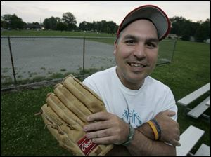 Toledoan Billy Ball, 34, will play on the softball team.