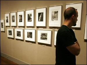 Mike Fanning of Cincinnati takes in the Museum of Art's exhibit of nature photographs by Ansel Adams.