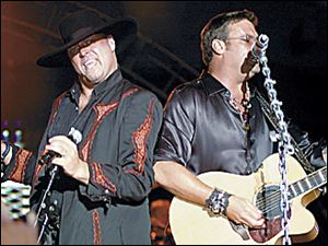 Montgomery Gentry (Eddie Montgomery, left and Troy Gentry) rock Country Concert '06.