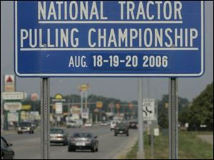 Besides being the hometown of figure skater Scott Hamilton, Bowling Green also promotes its annual tractor pulls.
