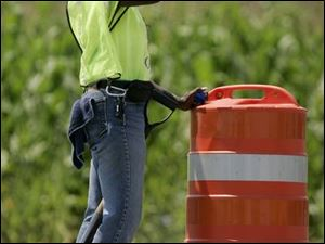 Ramelle Smith sips water