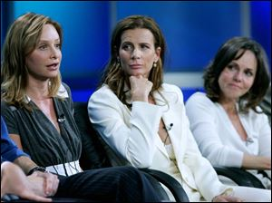 Calista Flockhart (left) and Rachel Griffiths play siblings and Sally Field (right) is their mother in the new ABC series <i>Brothers & Sisters</i>, which takes over the <i>Grey's Anatomy</i> time slot this fall.