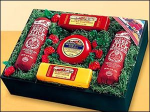 Hickory Farm food packages are popular holiday gifts.