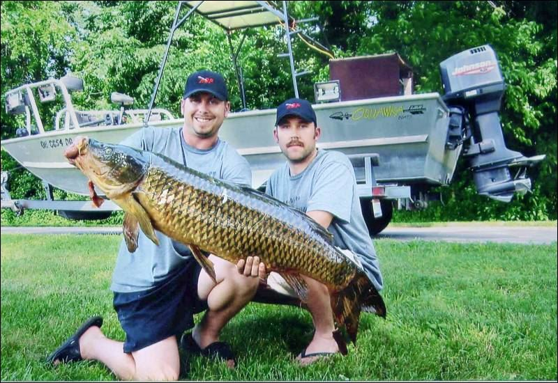 Not just fish stories carp sunfish muskie all set for Muskie fishing ohio
