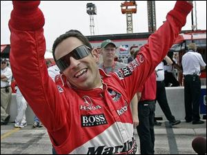Helio Castroneves says he's a good friend of Penske teammate Sam Hornish Jr., but he would just like to do a little better than Sam.