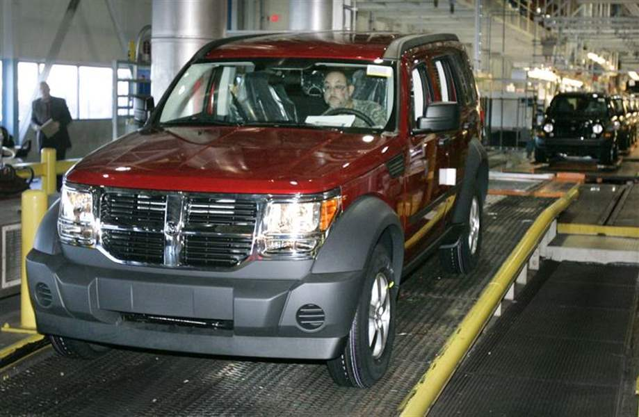 2007 dodge nitro rolls into production in toledo the blade sciox Choice Image