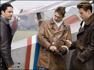 James Franco, center, with Martin Henderson, left, and David