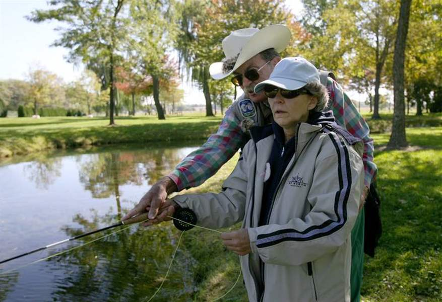 Fly fishing group eases worries of recovering breast for Fly fishing shows