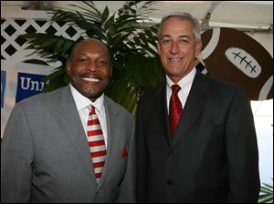 Archie Griffin, left, and Lance Tyo attended the United Way s  Community Building Event.