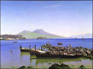 The Bay of Naples, by Christen Schiellerup Kobke, is part of the exhibit The Lure of Pompeii.