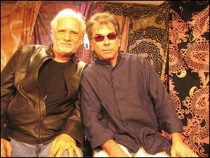 Bill Kreutzmann, left, and Mickey Hart played drums for the Grateful Dead for nearly three