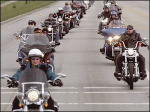 This marks the 17th Bikers of Northwest Ohio Toy Run, a Christmas fund-raiser and toy run.