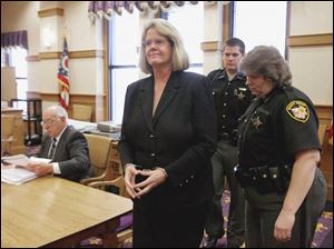 Disbarred attorney Elsebeth Baumgartner is sentenced at the Ottawa County Courthouse.